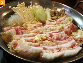 豚肉と白菜の鍋。