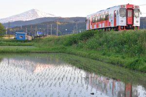 由利高原鉄道と鳥海山