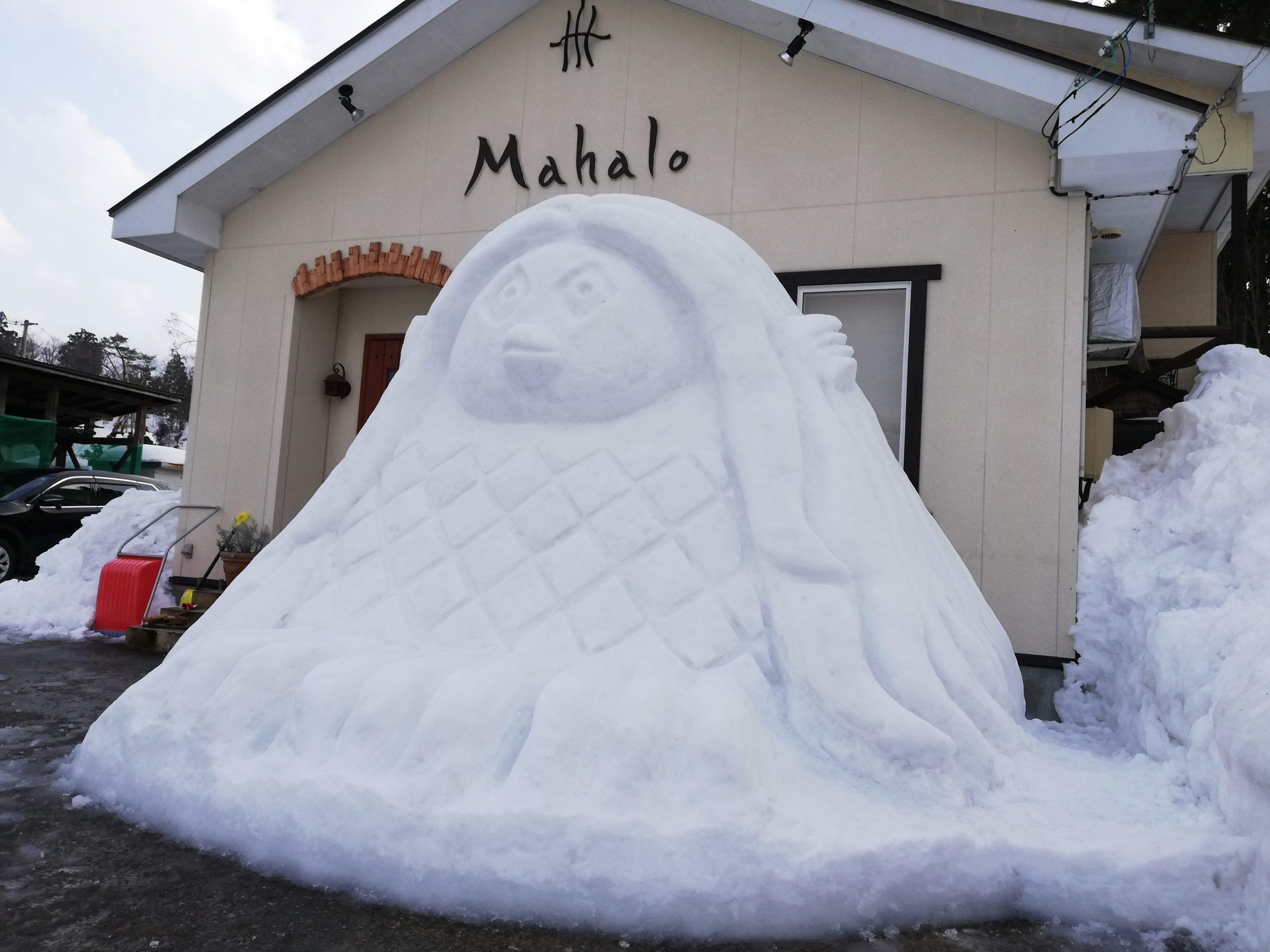 アマビエ雪像